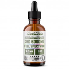 (e) 5000-mg Full Spectrum Hyper Concentrated CBD Oil Tincture (10.0mg/Drop × 500 Doses) 30 mL